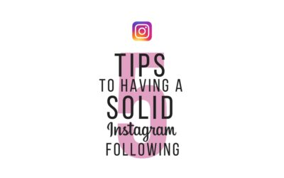 Five Tips on Having a Solid Instagram Following