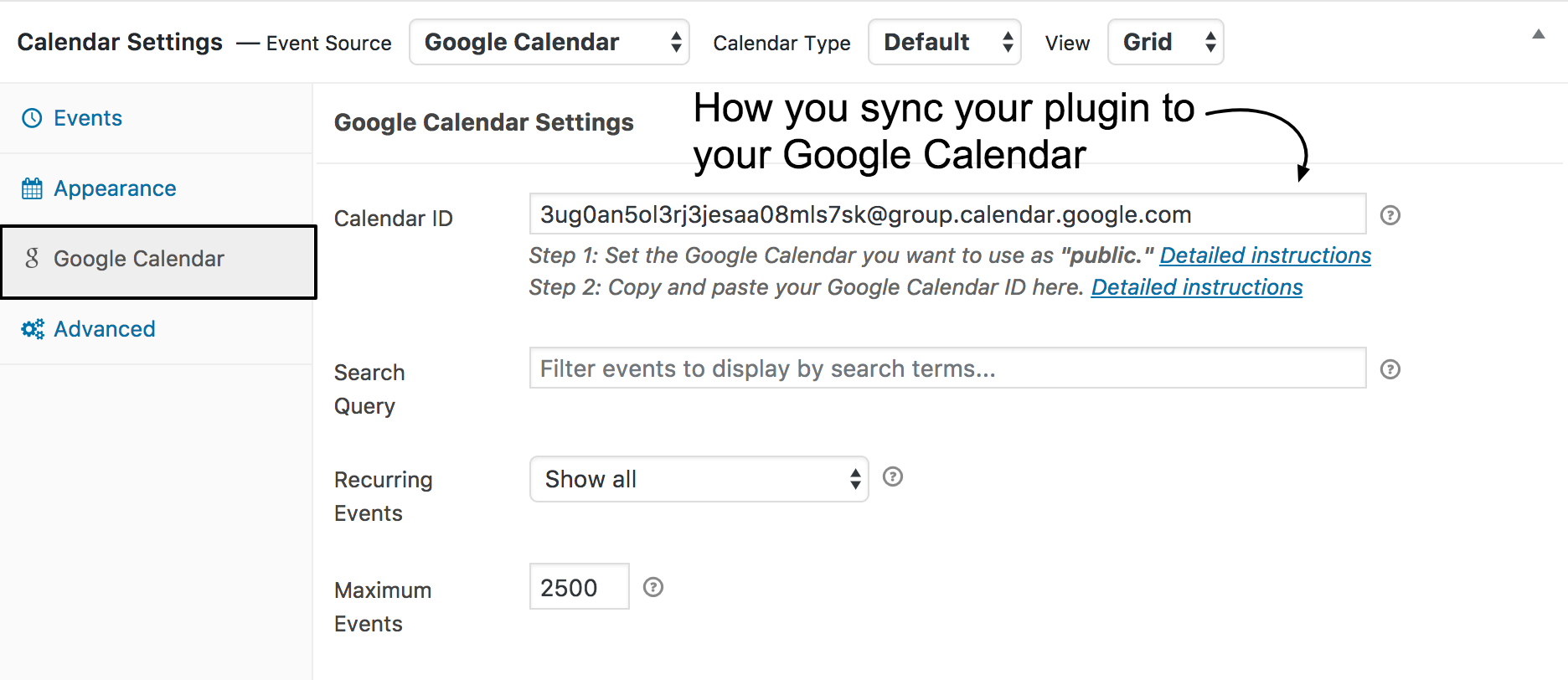 How to Add Google Calendar to Your Website - Spark My Site