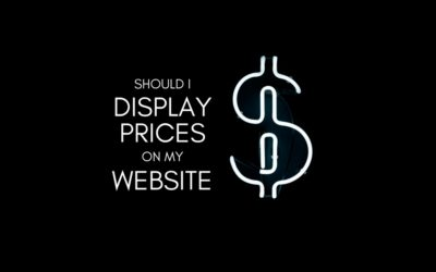 Should I Display Prices on My Website?