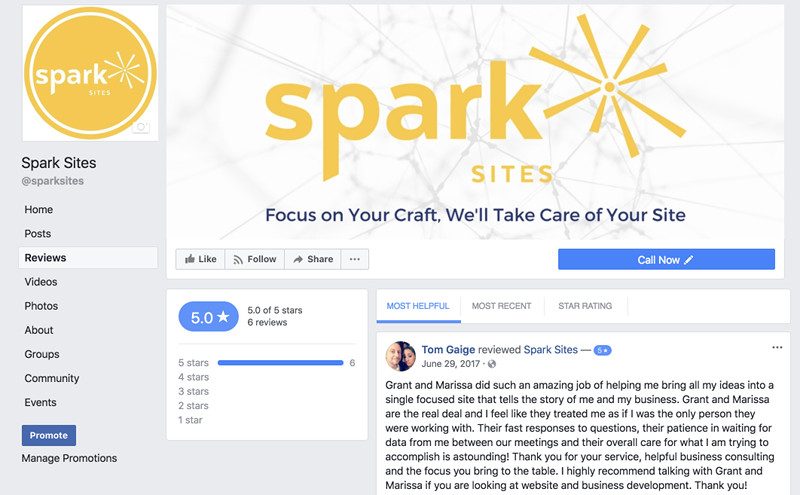 Google Reviews vs. Facebook Reviews - Spark My Site - Lakeland, FL