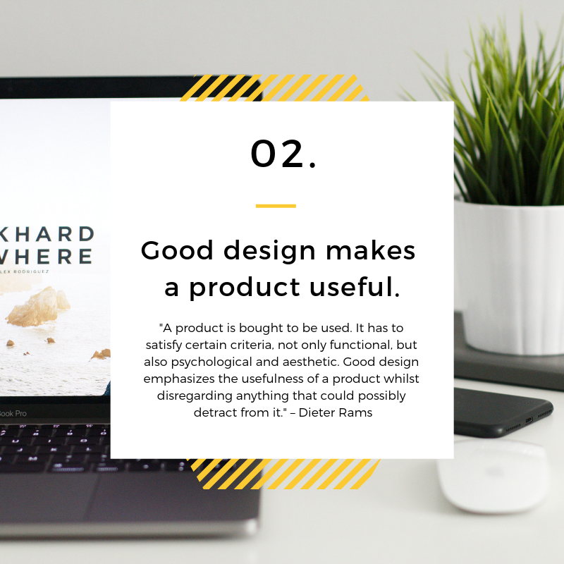 Making a Product Useful is Good Design - Dieter Rams - Spark Sites