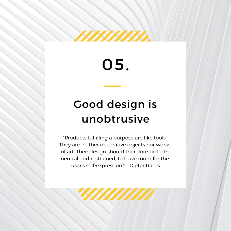 Unobtrusive Design is Good Design - Dieter Rams - Spark Sites