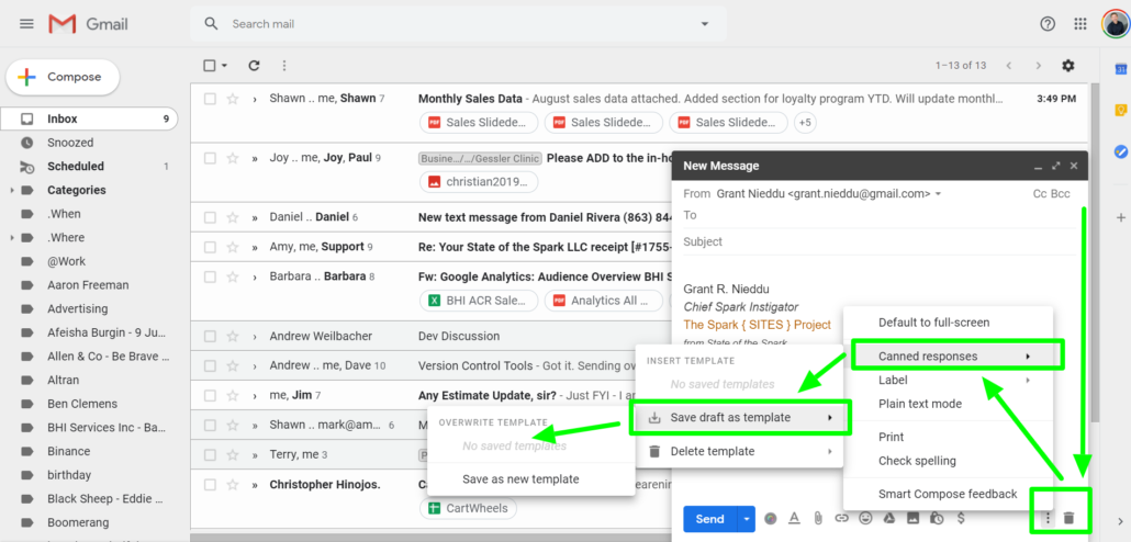 Gmail Canned Responses for Small Business CRM with Gmail
